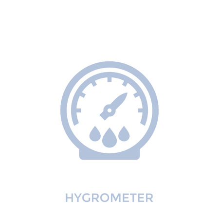 Hygrometer vector icon on white