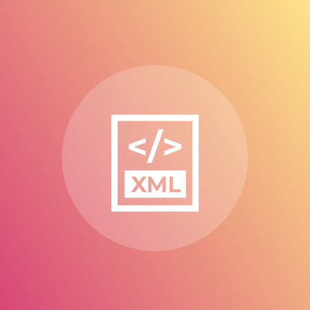 XML file format icon for web and apps  イラスト・ベクター素材