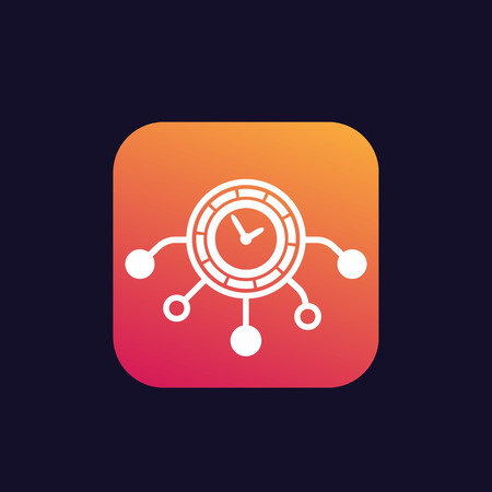 time management icon, vector sign Illustration