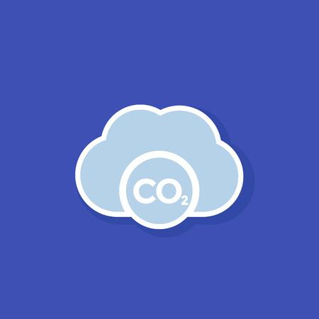 co2, carbon emissions cloud 일러스트
