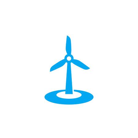 wind turbine icon on white