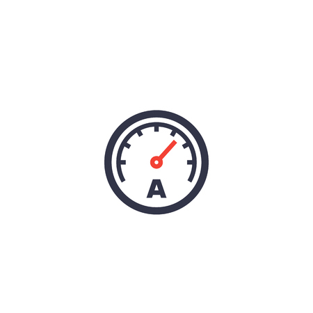 ammeter vector icon on white