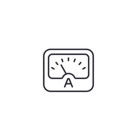 ammeter line icon on white