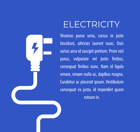 International power plug vector illustration