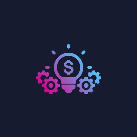 innovations, icône de vecteur de technologie financière Vecteurs