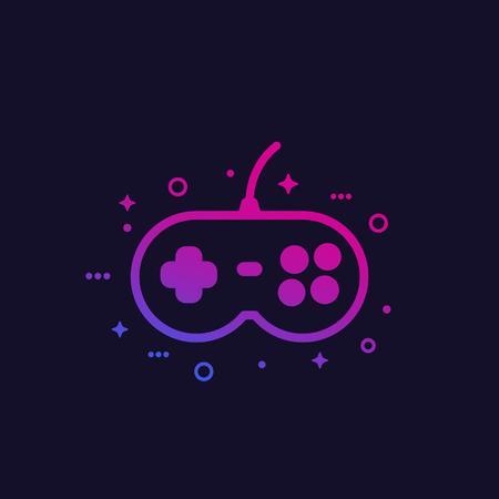 games, gamepad vector icon