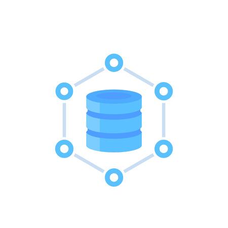 database, data storage vector illustration Ilustração
