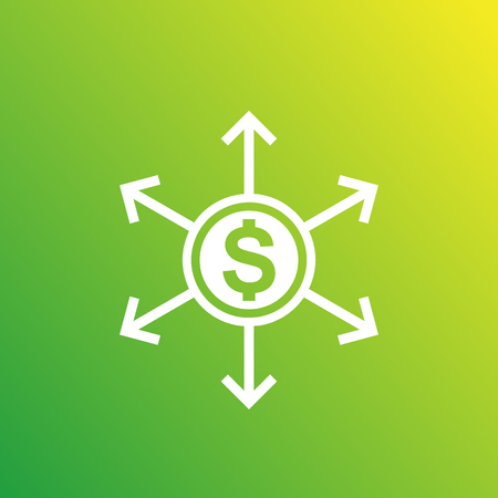 Financial diversification and diversified assets, vector icon Stock Illustratie