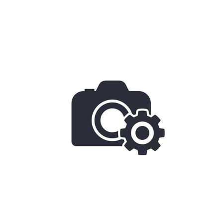 camera service vector icon