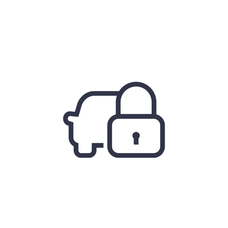 car lock line icon