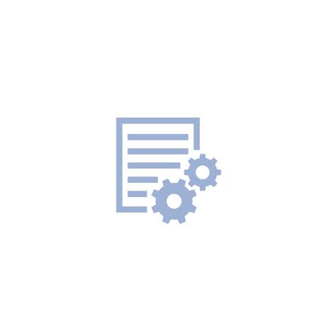 settings file icon on white