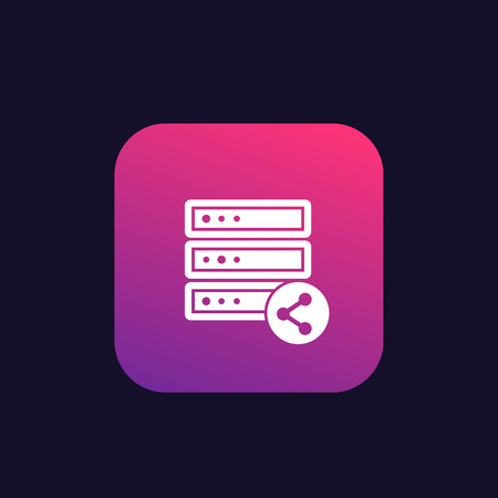 mainframe, server, shared hosting icon