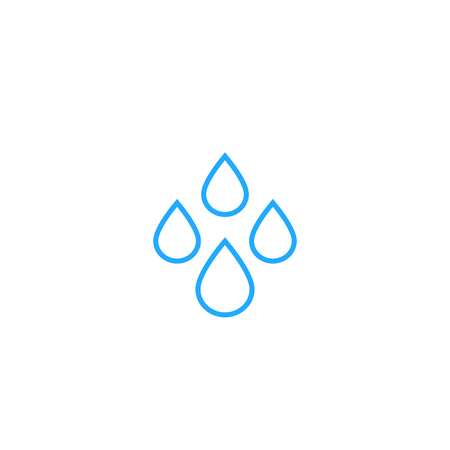water drops icon, line