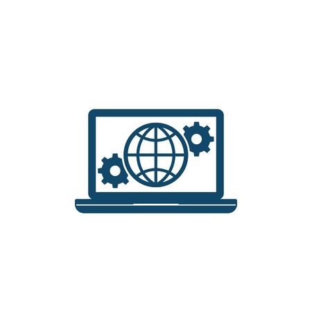 Global settings, network configuration icon