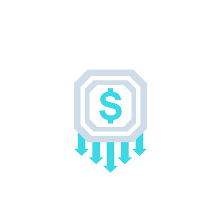 reduce costs, money management vector icon