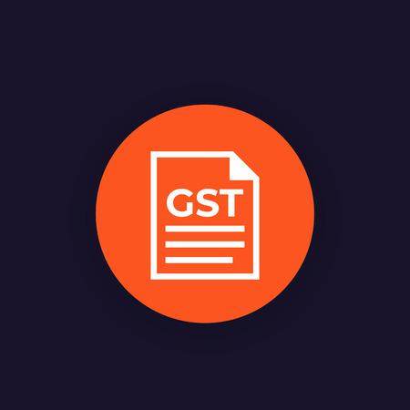 GST vector icon Illustration