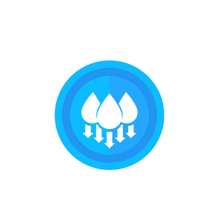 humidity level down, vector Vektorové ilustrace