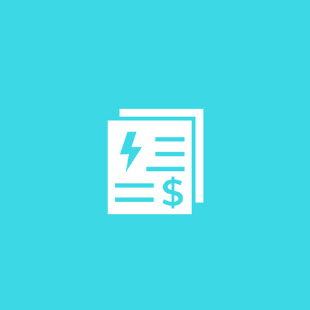 electricity utility bills icon Banque d'images - 122980006