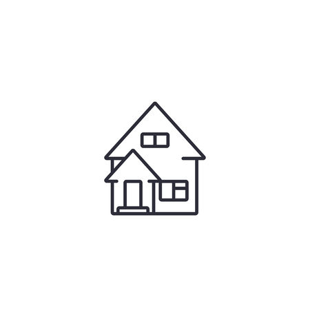 residential house line icon