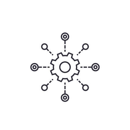software testing automation line vector icon  イラスト・ベクター素材