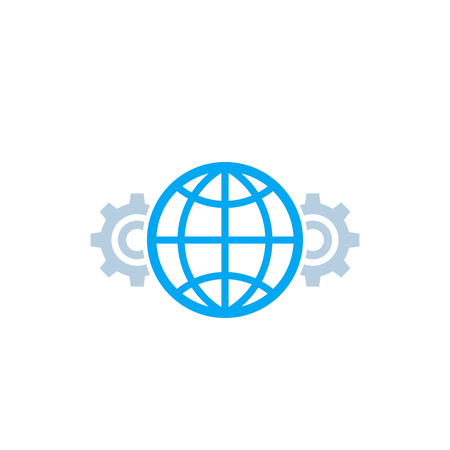 Global settings icon isolated on white