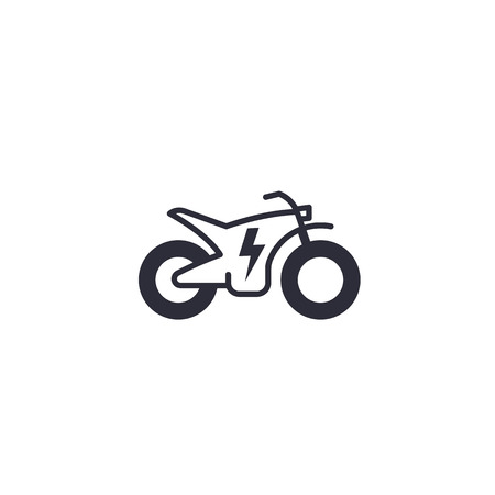 Electric bike, motorcycle vector icon on white Illustration
