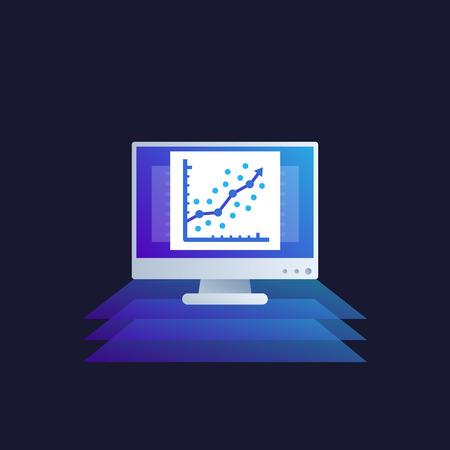 regression analysis vector icon