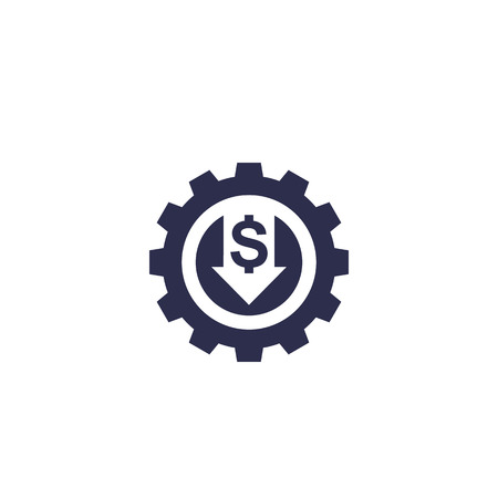 reduce, decrease cost, vector icon