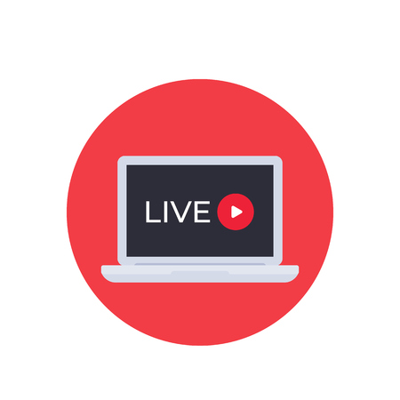 Live stream video, vector