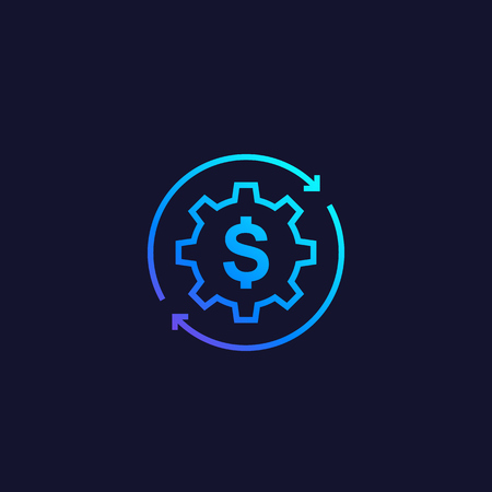 cost optimization, vector icon with gradient