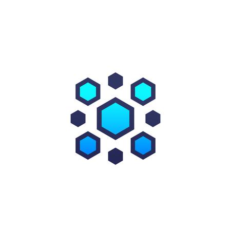 nanoparticles vector logo