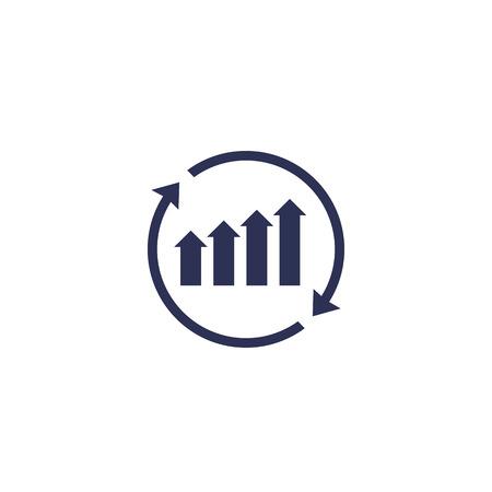 pictogram voor continue groei