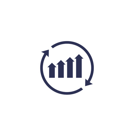 continuous growth icon