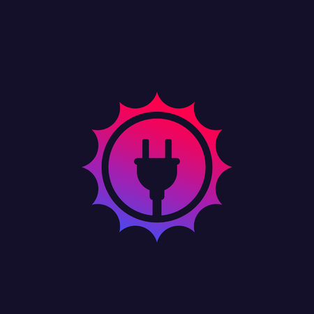Solar energy vector icon with trendy gradient Иллюстрация