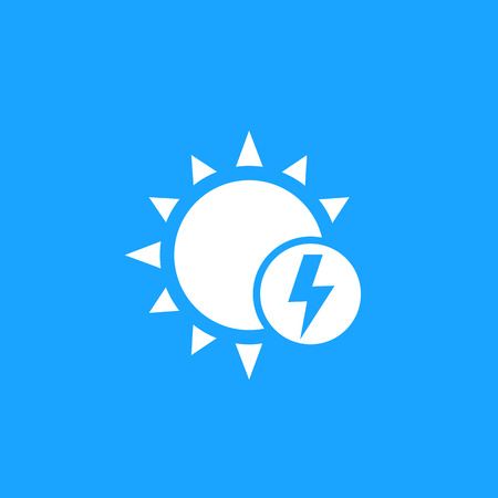 solar energy icon, vector mark Иллюстрация