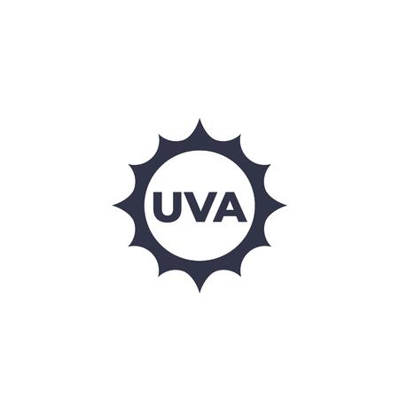 UVA icon, vector Illustration