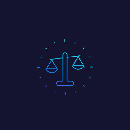 Ethics vector line icon