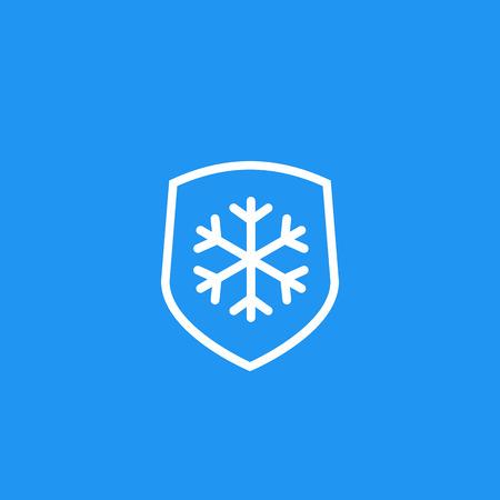 Frost resistant, resistance icon Illusztráció
