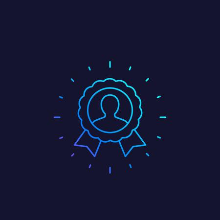 customer loyalty, vector line icon Vetores