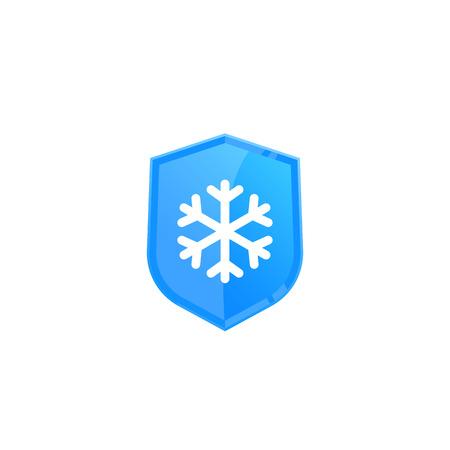 Frost resistant, cold resistance icon Illusztráció