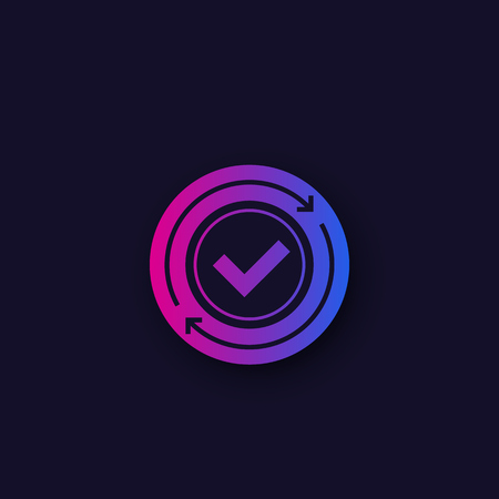 exchange, convertation completed, vector icon design