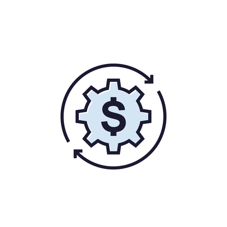 cost optimization, vector icon on white Stock Illustratie