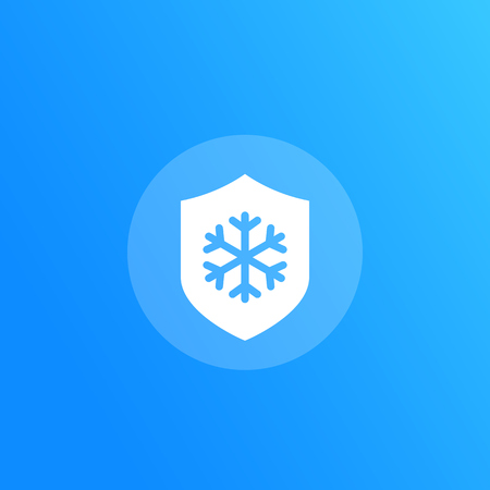 Frost resistant vector icon
