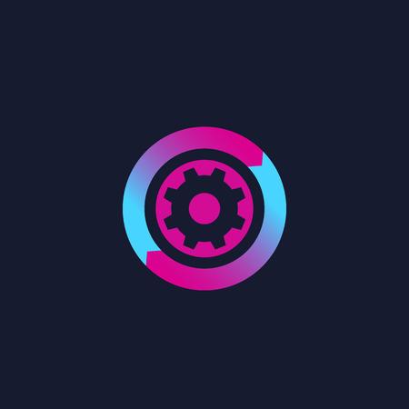 operations icon, vector logo  イラスト・ベクター素材