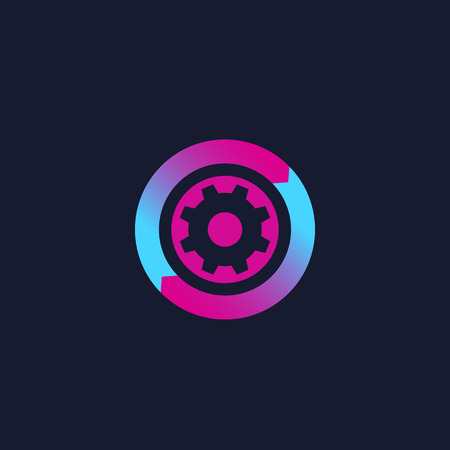 operations icon, vector logo 일러스트