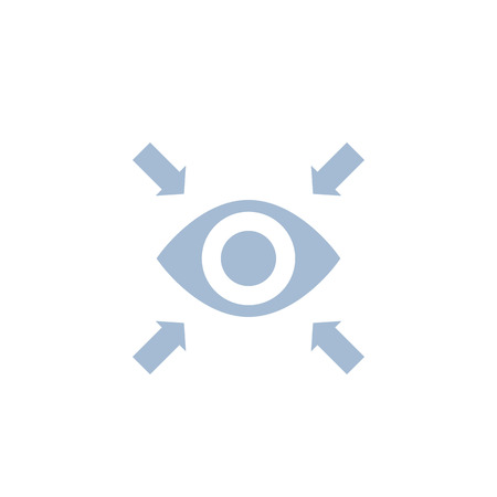 Focus vector icon with eye Çizim