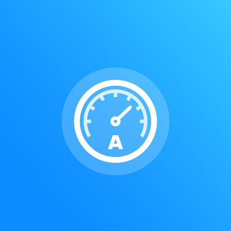 ammeter vector icon