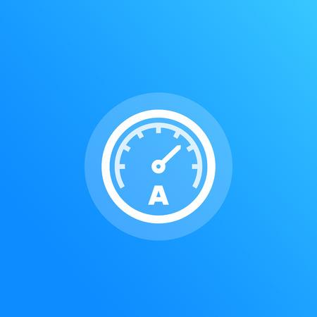 ammeter vector icon Illustration