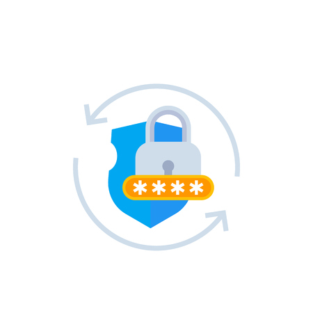 password acces, cybersecurity vector icon Ilustrace
