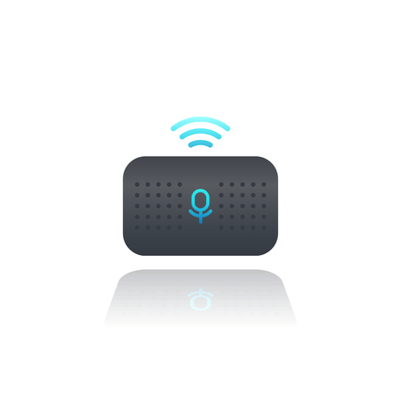 Smart speaker, voice assistant, vector
